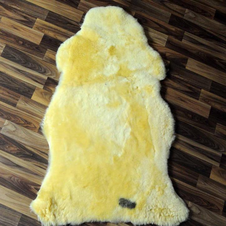 XXXL ÖKO Island Schaffell schwarzbraun grau 130x75 Perchten #6590