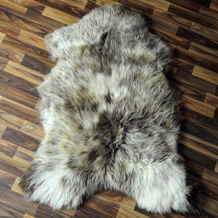 Island Schaffell Lammfell grau 95x60 Geschenk sheepskin #6770