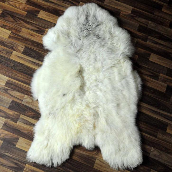 XL ÖKO Island Schaffell weiß schwarzbraun geflammt 115x70 #6923
