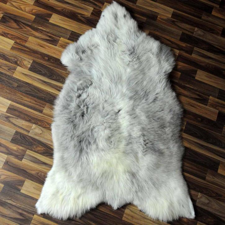 XL ÖKO Island Schaffell weiß schwarzbraun geflammt 110x70 #6924