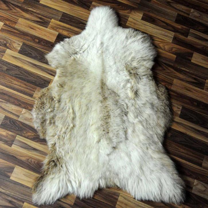 XL ÖKO Island Schaffell weiß schwarzbraun geflammt 115x80 #6926