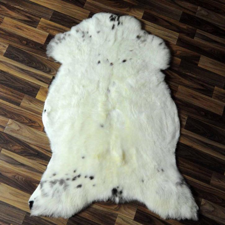 XL ÖKO Island Schaffell weiß schwarzbraun geflammt 115x75 #6928