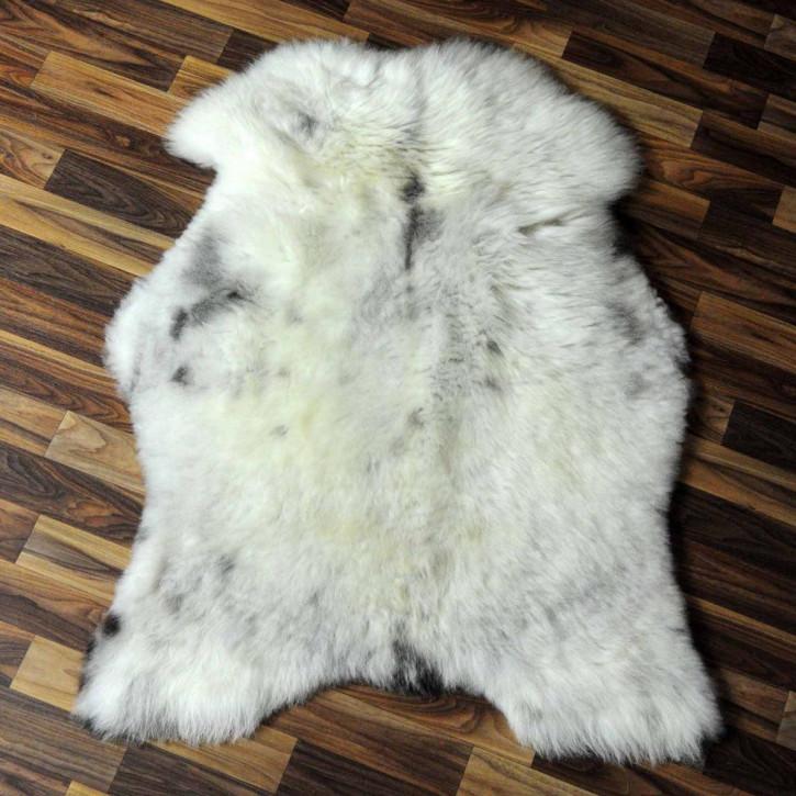 XL ÖKO Island Schaffell weiß schwarzbraun geflammt 110x75 #6929