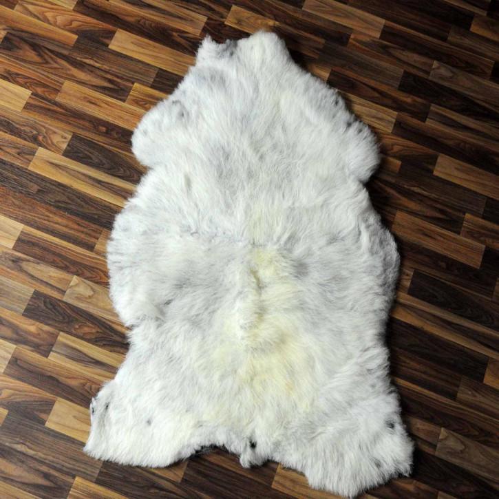 XL ÖKO Island Schaffell weiß schwarzbraun geflammt 110x75 #6931