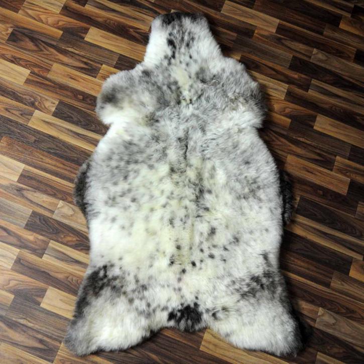 XL ÖKO Island Schaffell weiß schwarzbraun geflammt 115x75 #6940