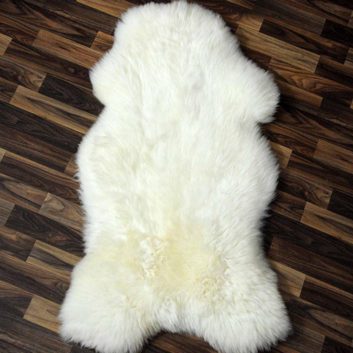 XXL ÖKO Island Schaffell schwarzbraun weiß 120x70 Perchten #7009