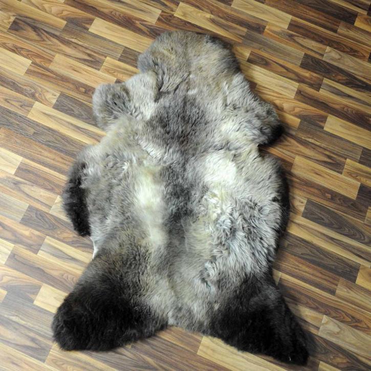 XXL ÖKO Schaffell Fell creme weiß braun 120x75 geschoren Eisbär #7180