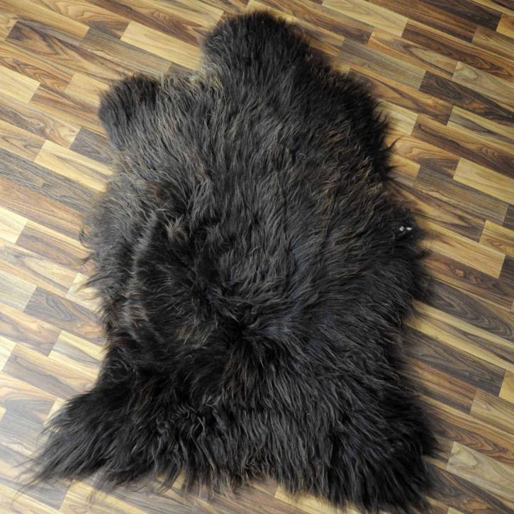 XXXL ÖKO Island Schaffell beige schwarzbraun 130x75 #7237