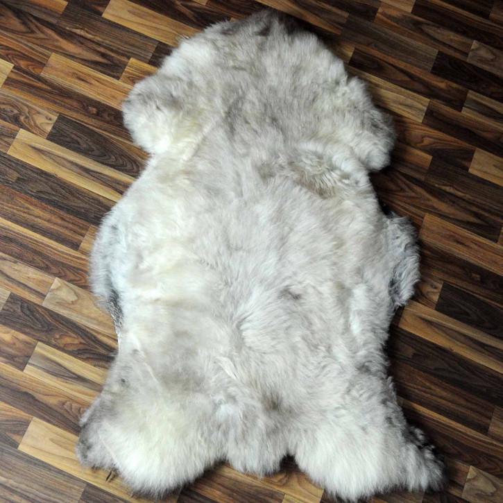 XXL ÖKO Island Schaffell schwarzbraun weiß 125x80 #7303