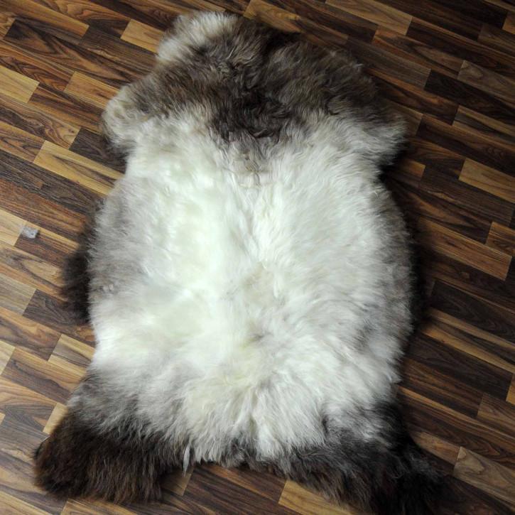 XL ÖKO Island Schaffell schwarzbraun grau 115x85 #7305