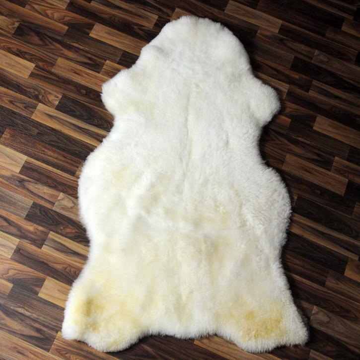 XXL ÖKO Island Schaffell beige schwarzbraun 120x75 #7349