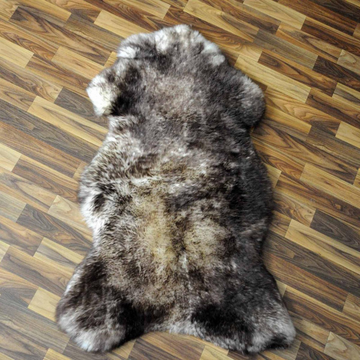 XXXL ÖKO Island Schaffell natur grau schwarzbraun 140x75 #7420