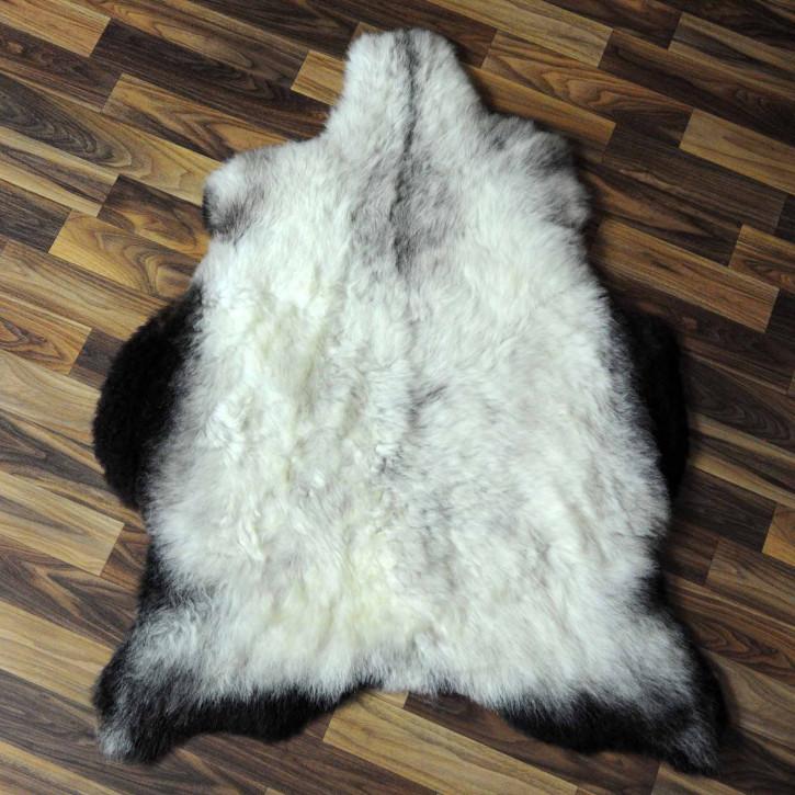 XXXL ÖKO Island Schaffell beige schwarzbraun 130x80 #7425