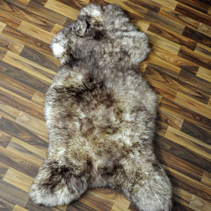 XXXL ÖKO Island Schaffell schwarzbraun beige 130x80 #7431