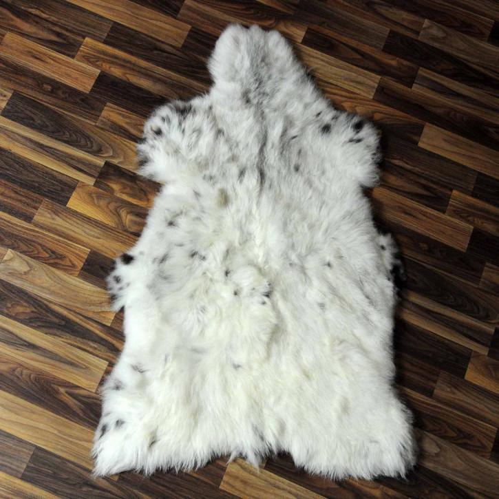 XXL ÖKO Island Schaffell grau schwarzbraun 120x75 #7434
