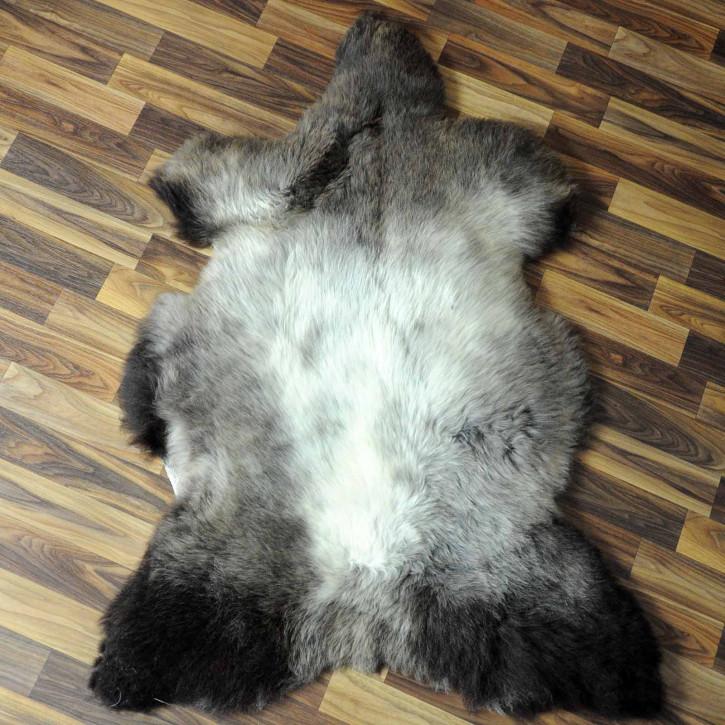 XL ÖKO Island Schaffell natur braun weiß 115x70 #7439