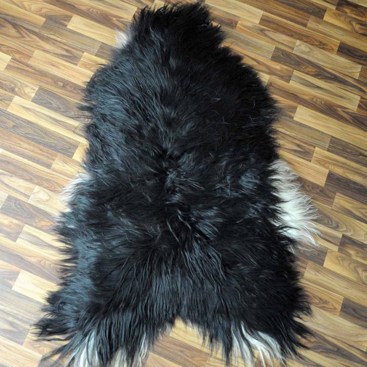 XL ÖKO Schaffell Lammfell Fell braun grau 110x70 Geschenk #7505