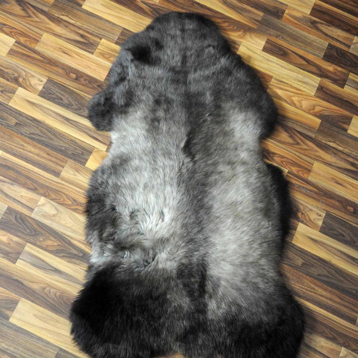 XL ÖKO Island Schaffell schwarzbraun grau 110x75 #7602
