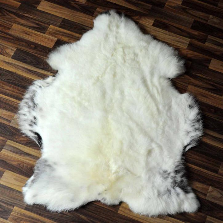 XL ÖKO Island Schaffell braun weiß 115x70 #7638