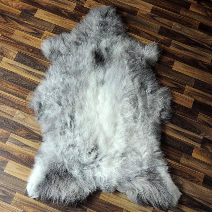 XXL ÖKO Island Schaffell braun weiß 125x80 #7639