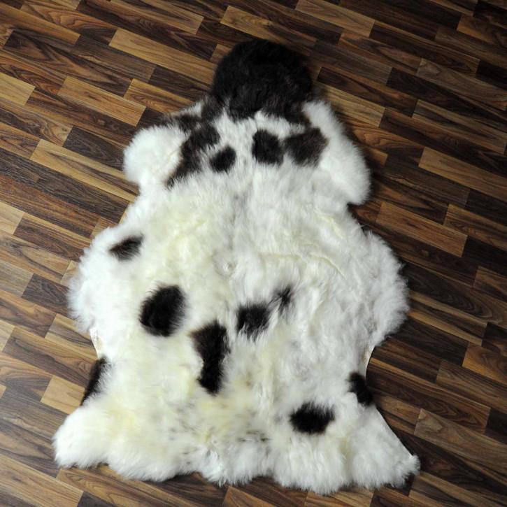 XL ÖKO Schaffell weiß braun geflammt 110x75 #7644