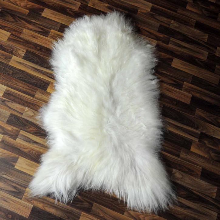 XL ÖKO Island Schaffell schwarz-weiß braun geflammt 115x75 #7730