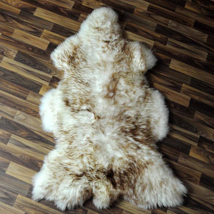 XXL ÖKO Island Schaffell schwarzbraun 120x85 #7735