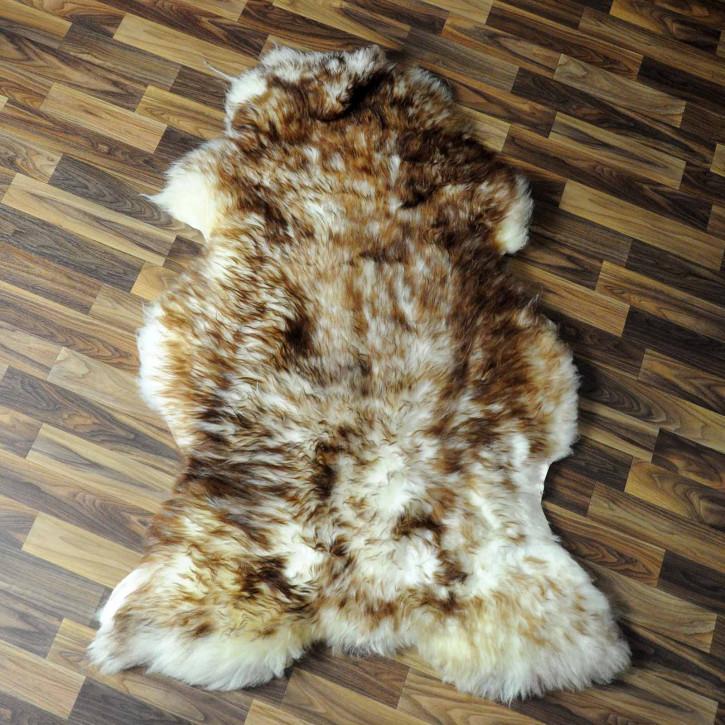 XL ÖKO Island Schaffell schwarzbraun grau 115x85 #7740