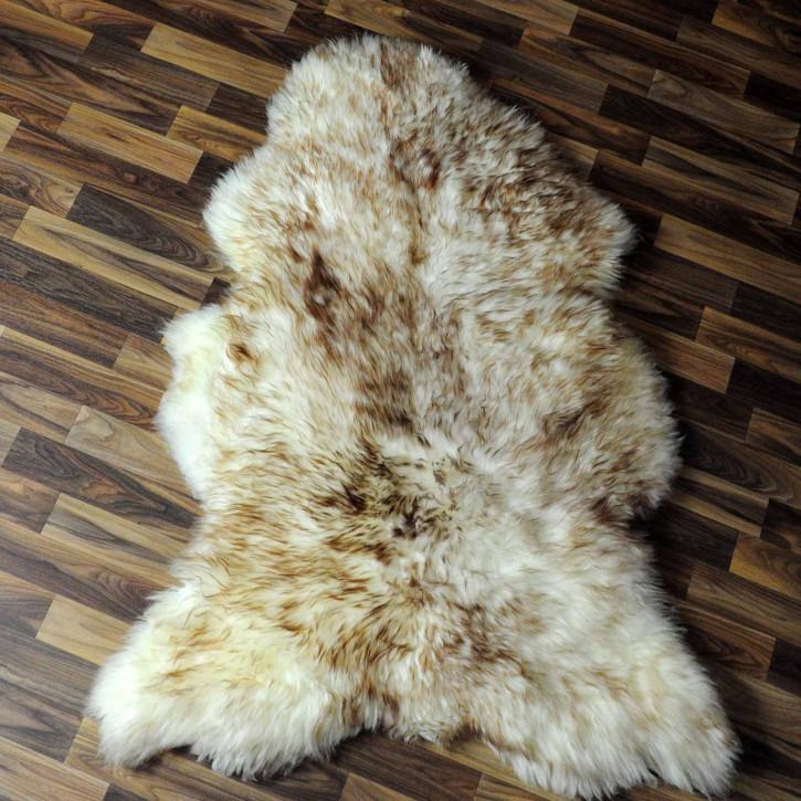 XXL ÖKO Island Schaffell schwarzbraun weiß 120x75 #7741