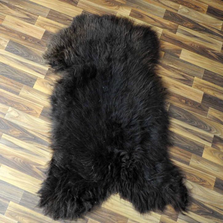 XXL ÖKO Island Schaffell schwarz weiß 120x75 #7751