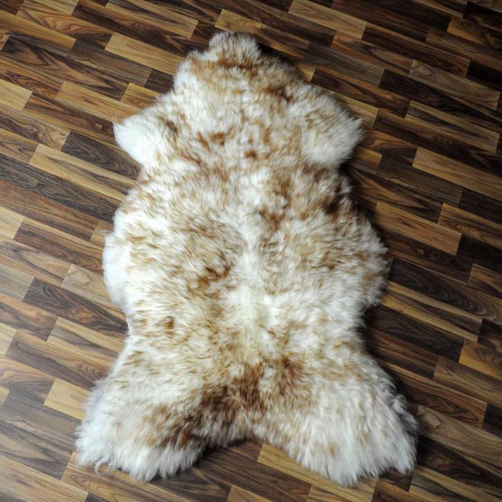 XXL ÖKO Island Schaffell schwarzbraun weiß 125x75 #7788