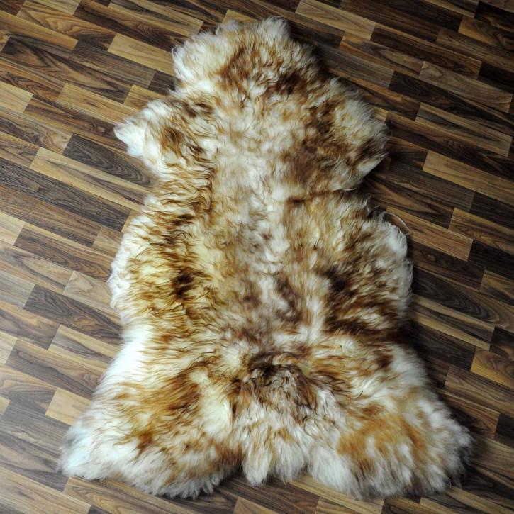 XL ÖKO Schaffell Fell creme weiß braun 115x80 geschoren Eisbär #7801