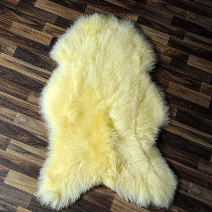 XL ÖKO Schaffell Fell creme weiß 110x75 geschoren Eisbär #7810