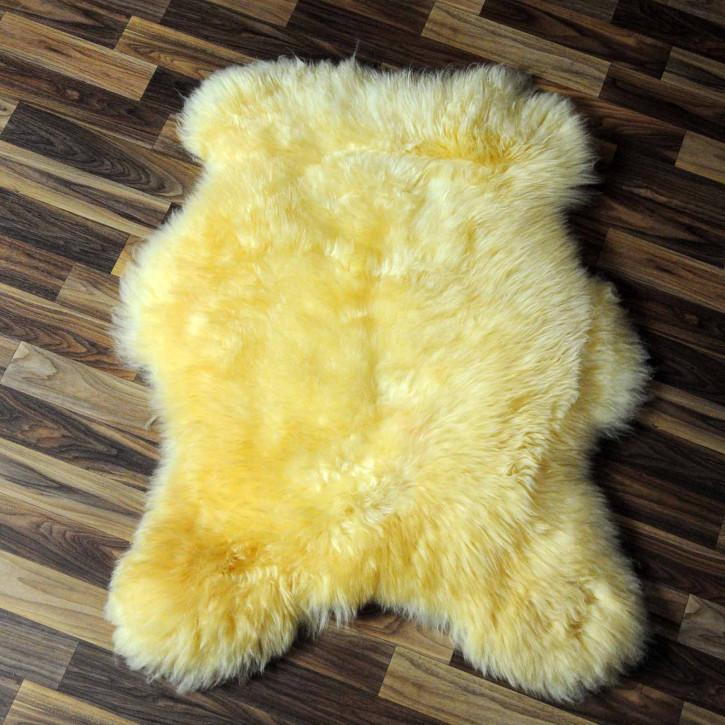 XL ÖKO Schaffell Fell beige 115x75 geschoren Eisbär #7812
