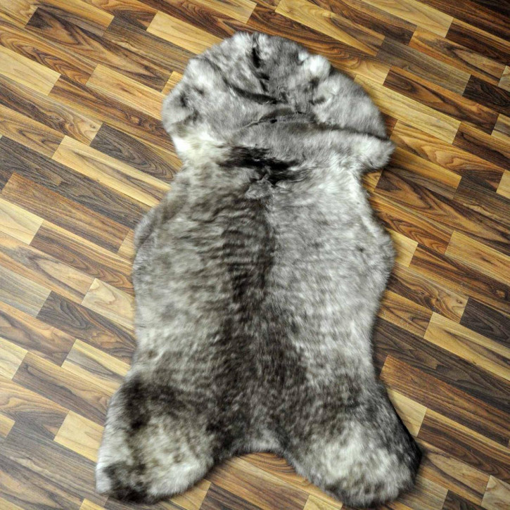 XXL ÖKO Island Schaffell schwarzbraun weiß 120x80 #7849