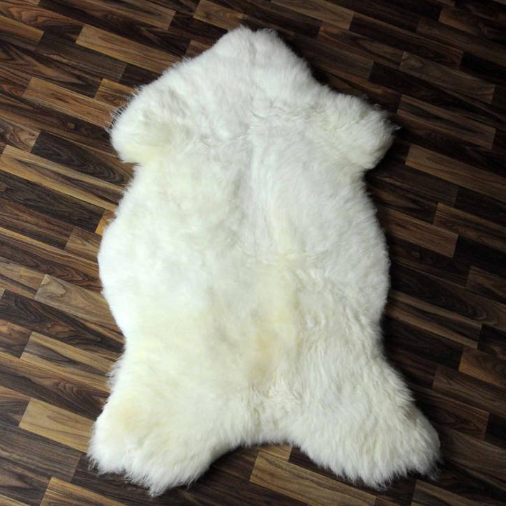 XL ÖKO Island Schaffell beige schwarzbraun 110x75 #7968