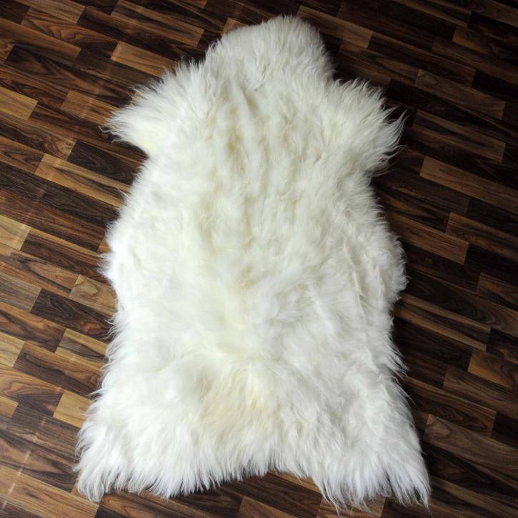 XL ÖKO Schaffell weiß braun geflammt 110x70 #8035
