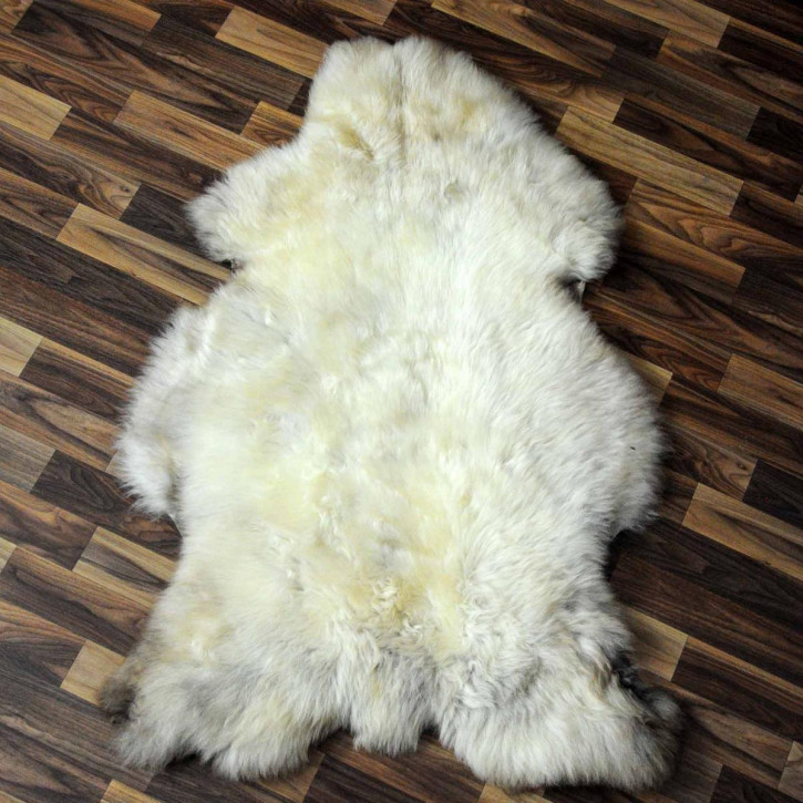 XXXL ÖKO Schaffell Fell creme weiß 130x80 sheepskin #8052
