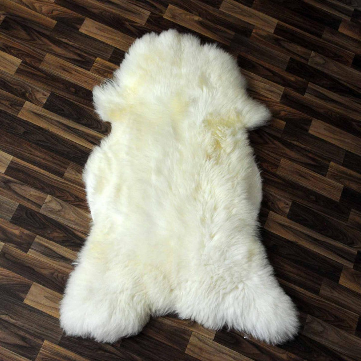 XXXL ÖKO Schaffell Fell creme weiß braun 140x90 skin #8109
