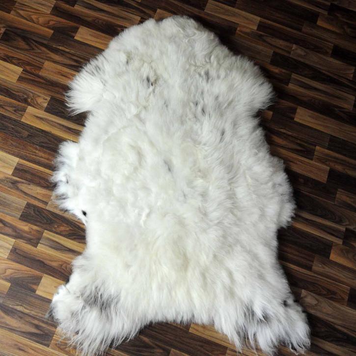 XL Schaffell Lammfell grau 110x65 Couch Teppich #8125