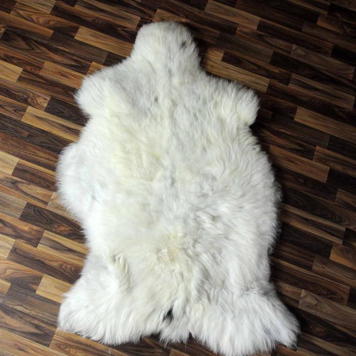 XL Schaffell Lammfell grau 115x75 Couch Auflage Teppich #8126