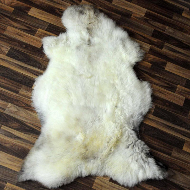 XL Schaffell Lammfell grau 110x60 Couch Auflage Teppich #8138