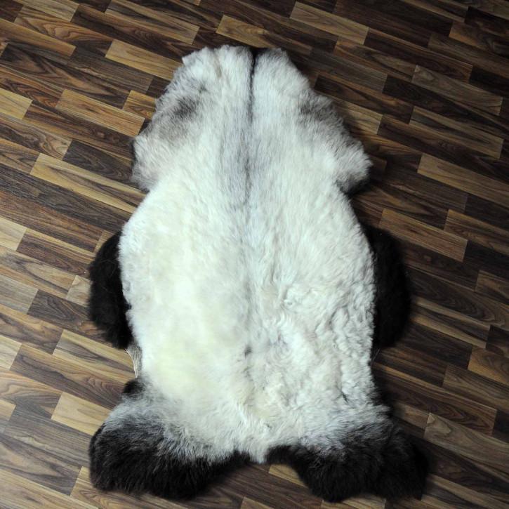 XL Schaffell Lammfell grau 115x60 Couch Auflage Teppich #8139