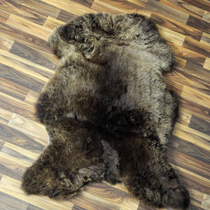 XXL ÖKO Schaffell Fell creme weiß braun 125x80 sheepskin #8201