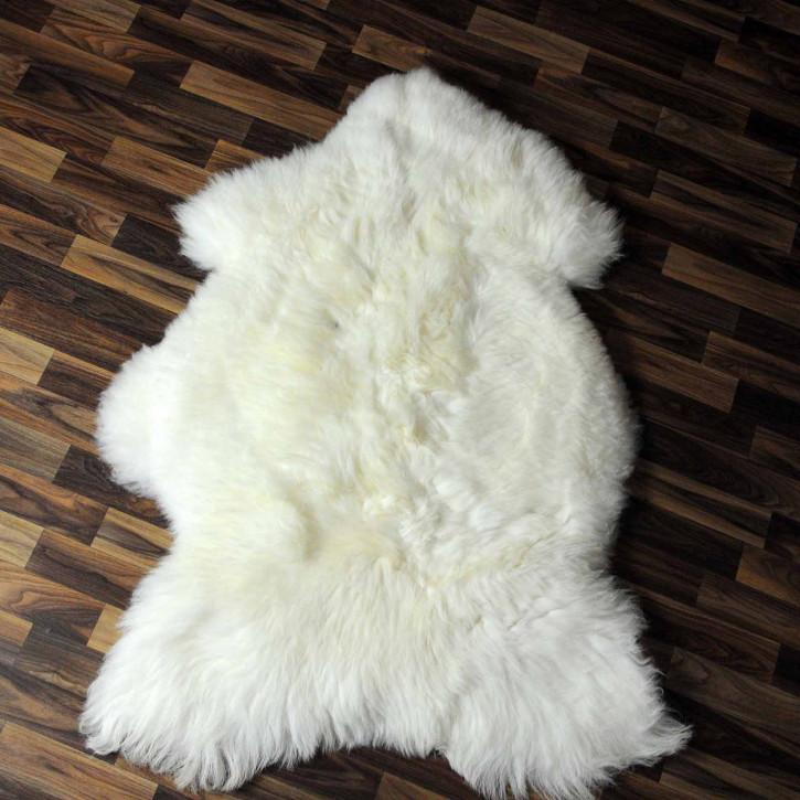XL Island Schaffell grau schwarz geflammt 115x70 #8213