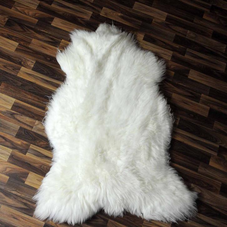 XL Island Schaffell grau schwarz geflammt 115x65 #8216