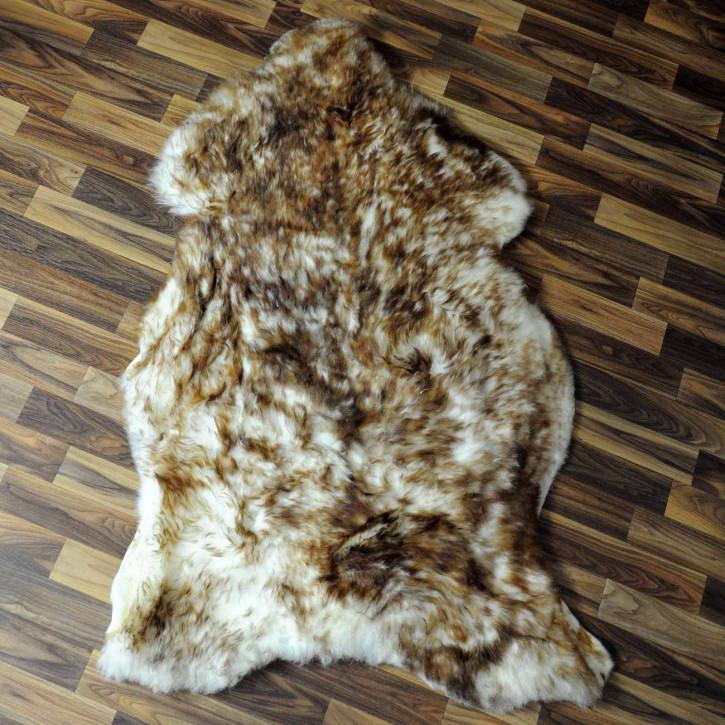 XL Island Schaffell grau schwarz geflammt 115x75 #8218