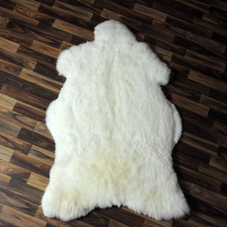 XXL ÖKO Island Schaffell beige schwarzbraun 120x75 #8262