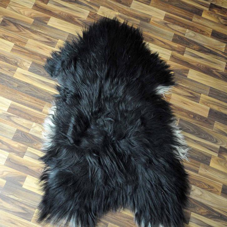 XXL ÖKO Island Schaffell beige schwarzbraun 125x80 #8341