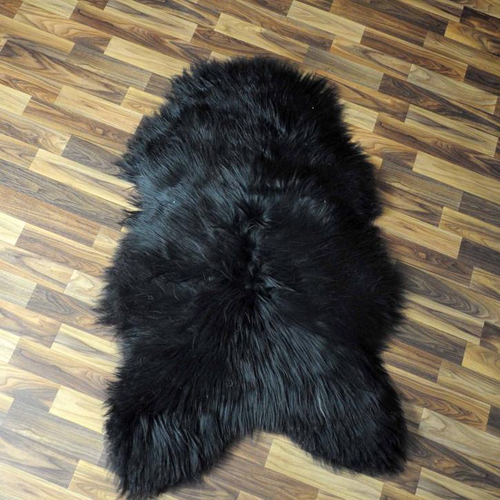 XXXL ÖKO Island Schaffell beige schwarzbraun 130x75 #8343